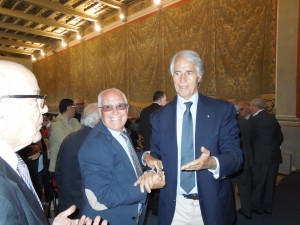 Massimo Natili e Giovanni Malagò