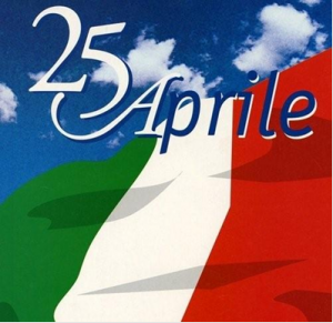 bandiera italiana e 25 aprile