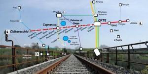 mappa ferrovia Civitavecchia-Capranica-Orte